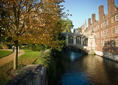 scenic photo of bridge of sighs over river cam