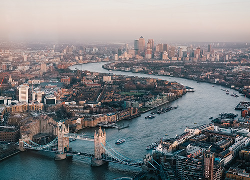 photo of london taken from above